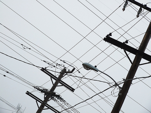 Power lines by Flickr user achouro