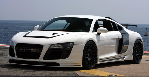 The highlight of PPI's Razor GTR package is a 580hp (427kW) supercharger kit for the R8