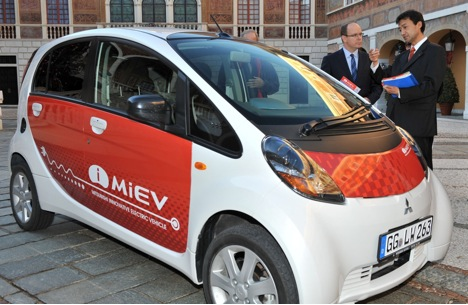 Prince Albert of Monaco and Mitsubishi iMiEV