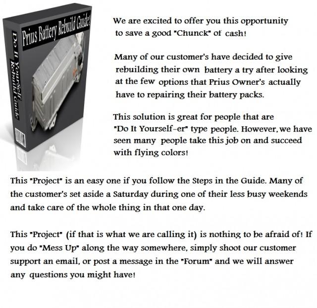 Prius Battery Rebuild Guide ad