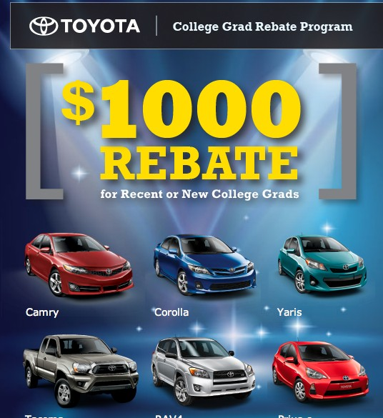 Prius c Rebate For Graduates