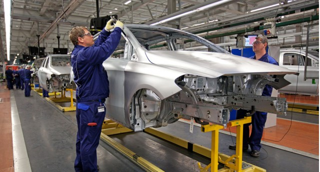 Production line at Mercedes' Kecskemét plant in Hungary