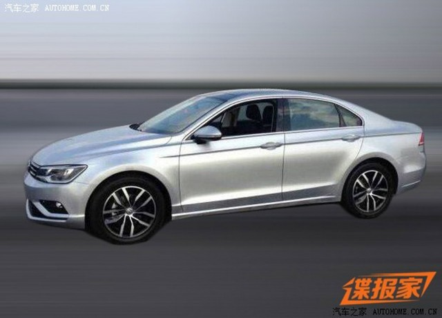 Production Volkswagen New Midsize Coupe leaked (Image via Autohome)