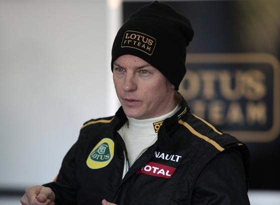 Raikkonen gives feedback to the Lotus F1 team - photo courtesy Lotus F1 Team