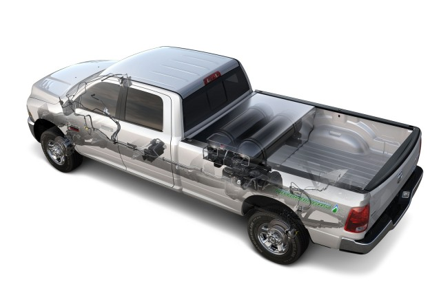 2013 Ram 2500 HD CNG pickup truck - natural-gas fuel system only
