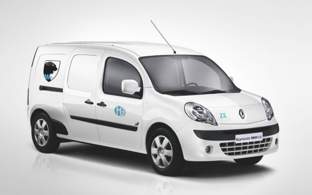 Renault 'HyKangoo' electric delivery van with Symbio FCell hydrogen fuel-cell range extender