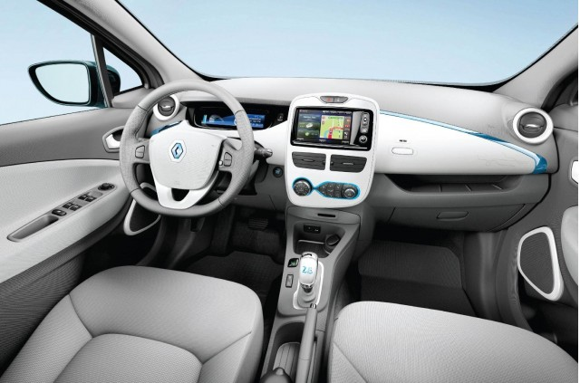 Renault ZOE electric car interior