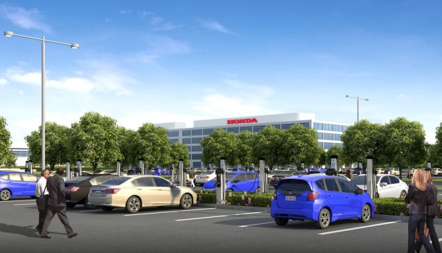 Honda S California Hq Installs 120 Electric Car Charging