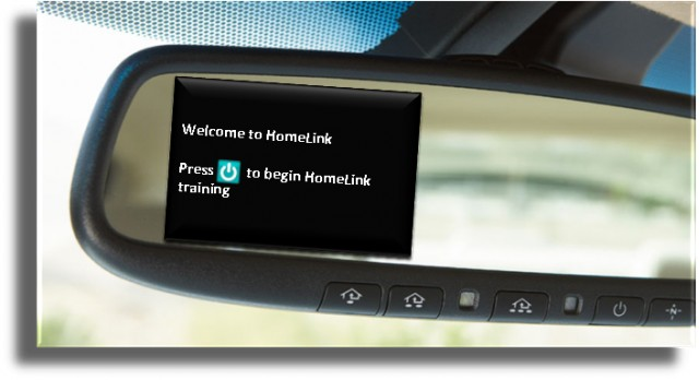 Revised Homelink universal garage door opener system  -  2011 Toyota Avalon