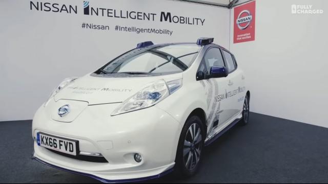 Riding In Prototype Autonomous Nissan Leaf Electric Car What It S