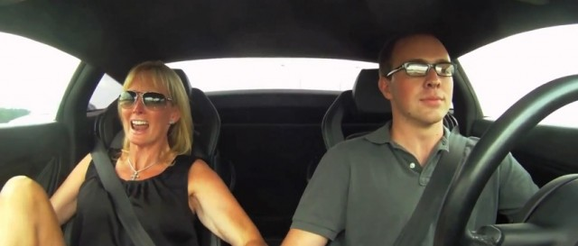 Robert Himler's mom screams as his Underground Racing Gallardo accelerates.