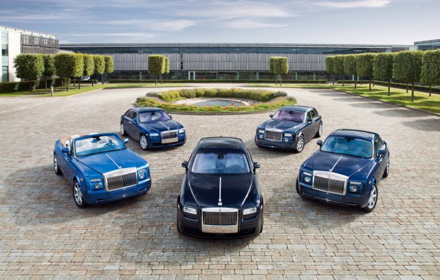 Rolls-Royce's current product offerings, at its Goodwood home.