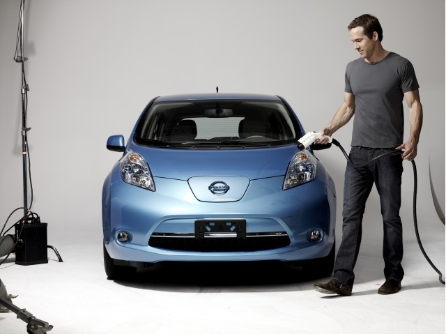 Ryan Reynolds Nissan's latest Leaf Spokesperson