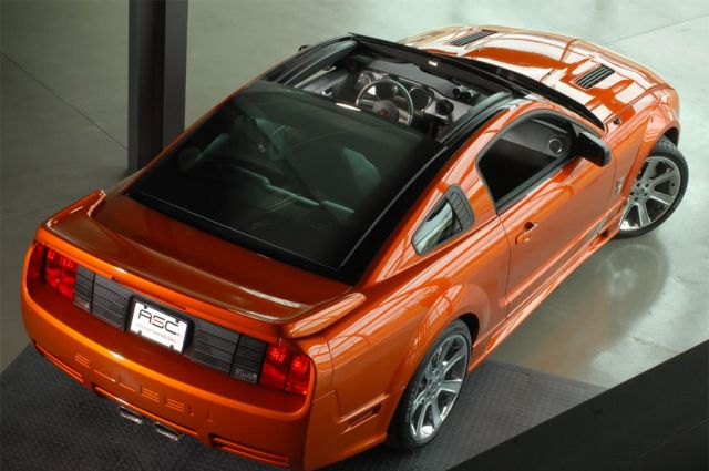 Saleen Unveiling Power Sliding Glass Roof For S197 Mustang
