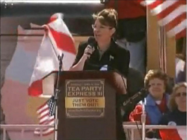 Sarah Palin speaking about Subaru drivers in Searchlight, Nevada, on March 27, 2010