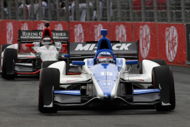Sato en route to third place - Photo courtesy IZOD IndyCar Series/LAT USA