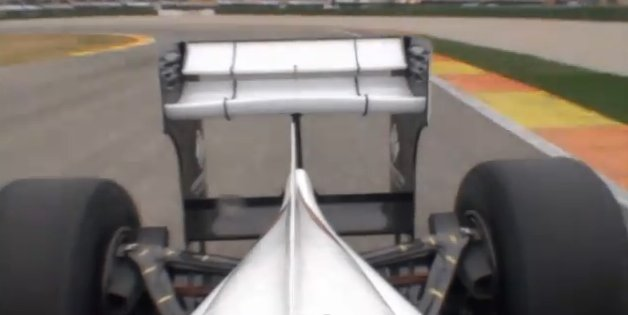 Sauber C30 active rear wing