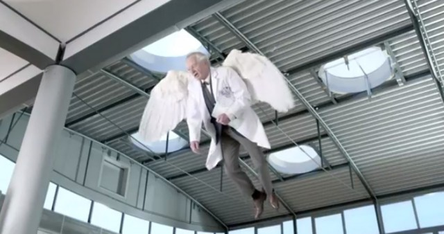 Scene from Volkswagen's 'Wings' 2014 Super Bowl spot