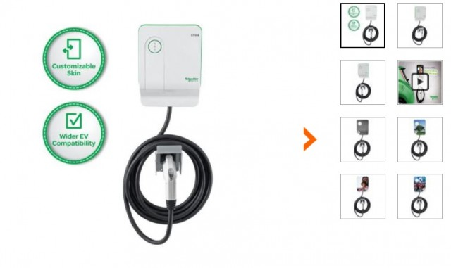Schneider EVlink 30 Amp Generation 2.5 240-Volt Level 2 charging station for plug-in electric cars