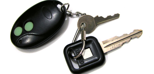 Car keys and keyless entry fob