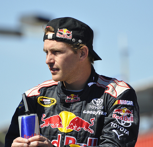 Scott Speed at Auto Club Speedway in Fontana, CA last fall Photo: Anne Proffit