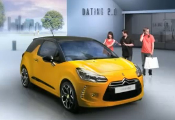 Screencap from Citroen 'Dating 2.0' campaign