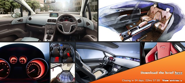 Screencap from Opel's design contest website