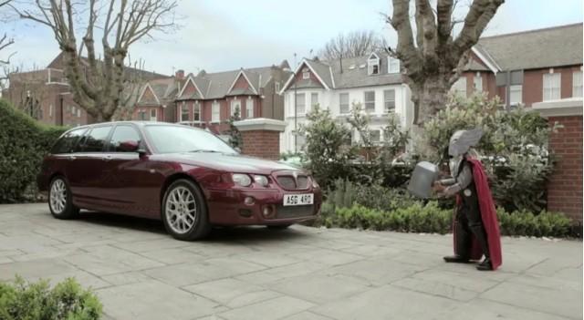 Screencap from Thor promo ad