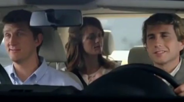 Screencap from Volkswagen's 'Shoot the Gap' ad