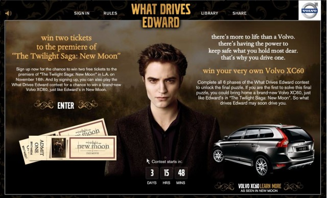 Screenshot from Volvo's WhatDrivesEdward.com