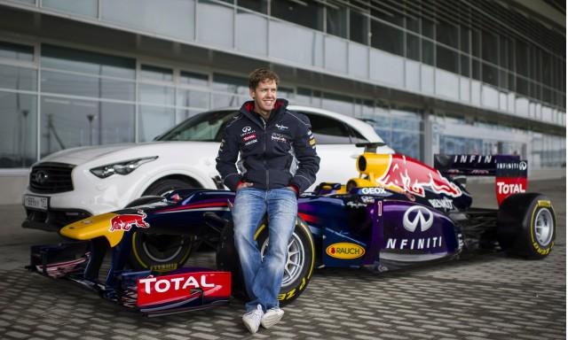 Sebastian Vettel at the Sochi Olympic Park Circuit in Sochi, Russia