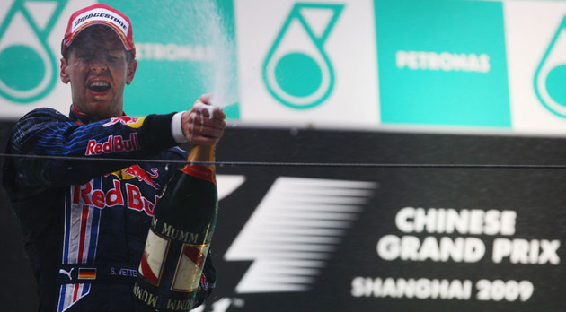 Today's win is the second in Vettel's short career and the second in the wet for the young German driver