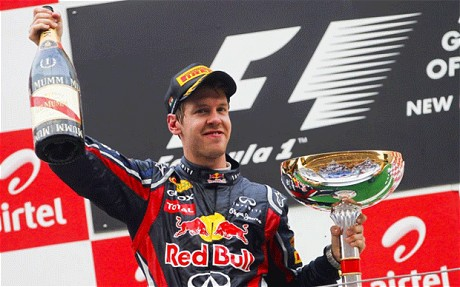 Sebastian Vettel Winning the Indian Grand Prix