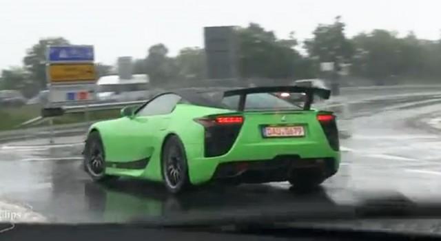 Second mystery Lexus LFA prototype spy shots