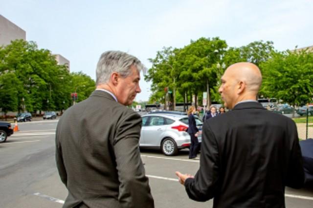 Senator Sheldon Whitehouse and Joel Levin, Plug In America's Executive Director