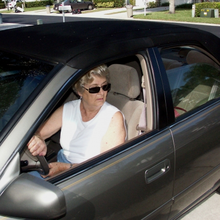 Senior driver backing up - AAA Foundation for Traffic Safety