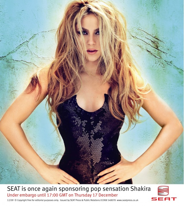 Shakira hooks up with SEAT
