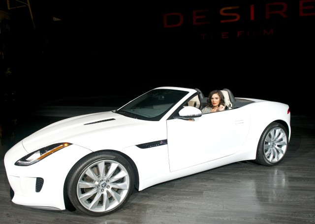 Shannyn Sossamon and the Jaguar F-Type