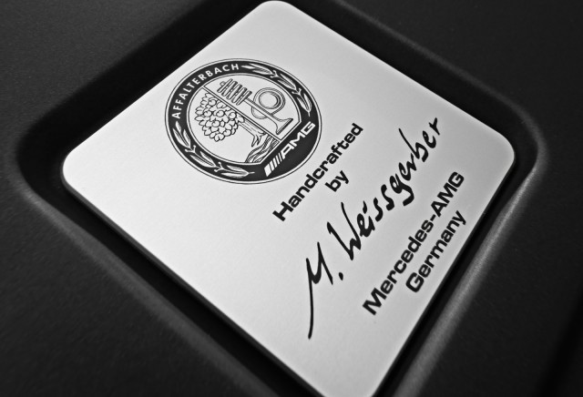 Signature plaque on AMG engine