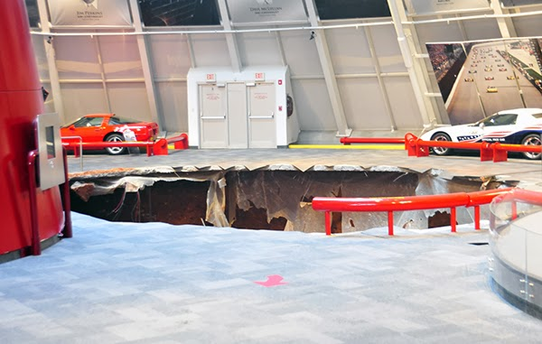 Sinkhole swallows 8 Corvettes at National Corvette Museum