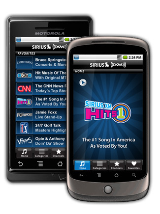 SIRIUS XM on Android
