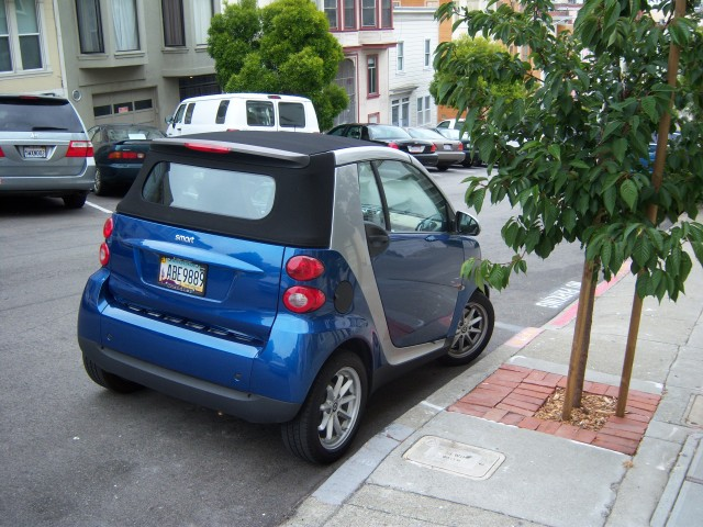 Smart Car Parked In San Francisco