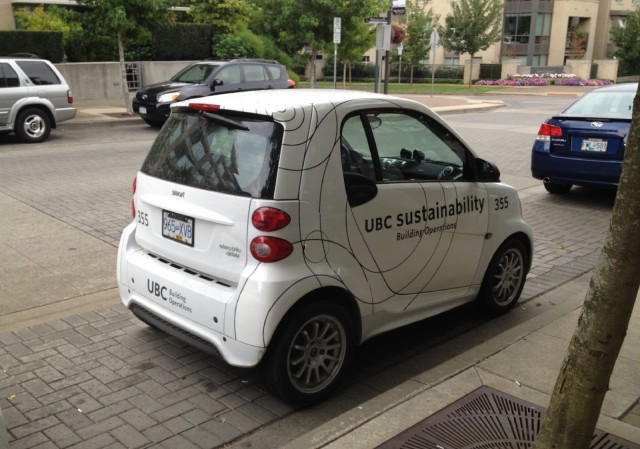 Smart Electric Drive, University of British Columbia campus, Vancouver [photo: Matthew Klippenstein]