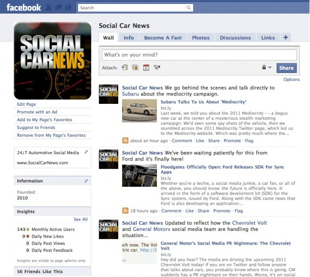 Social Car News Fan Page