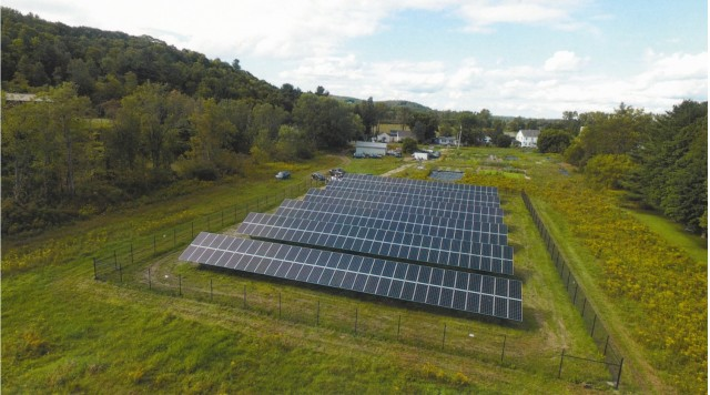 Solar farm used by West Hill House B&B