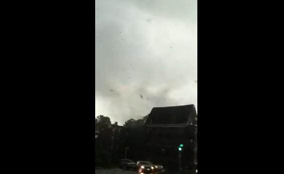 Springfield, Massachusetts tornado from car