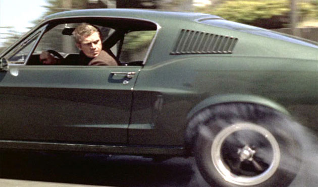Image Steve Mcqueen At The Wheel Of The Bullit Mustang Size 630 X 371 Type Gif Posted On