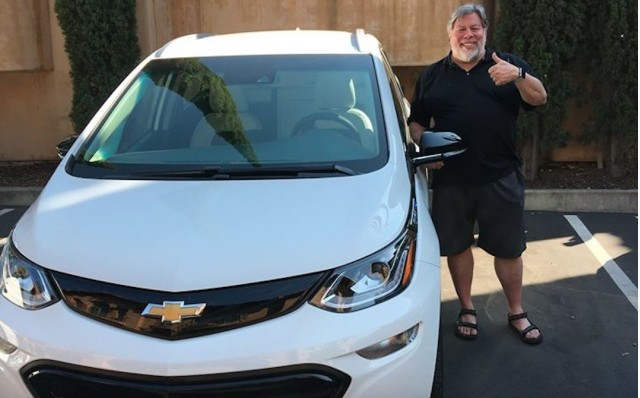 Steve Wozniak and a Chevrolet Bolt EV