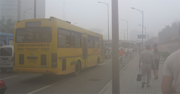 Street-level smog in Beijing