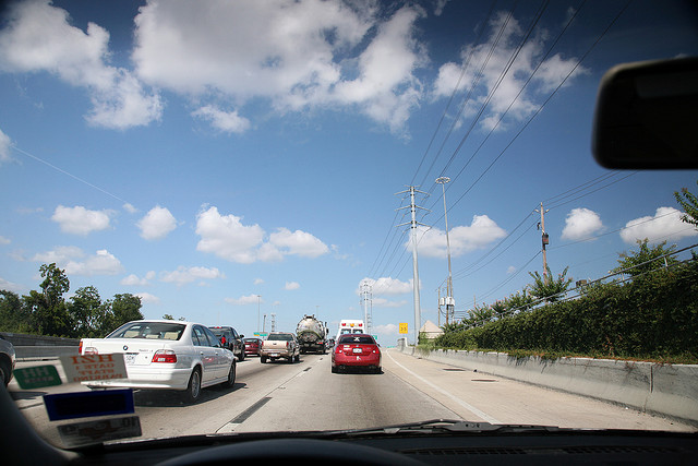 Stuck in traffic, by Flickr user SMercury98
